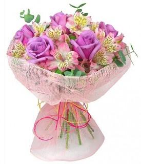 Ramalhete de Rosas Cor de Rosa